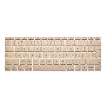 Kryt klávesnice ENKAY pro Apple MacBook 12 / Pro 13 (2016) bez Touch Baru - silikonový - zlatý - EU verze