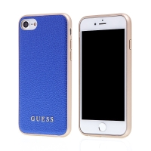 Kryt GUESS IriDescent pro Apple iPhone 6 / 6S / 7 / 8 - gumový - modrý