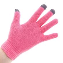 Rukavice pro ovládání dotykových zařízení - růžové