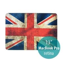 Ochranný plastový obal pro Apple MacBook Pro 13 Retina (model A1425, A1502) - retro vlajka GB