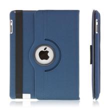 360° otočný ochranný kryt a držák pro Apple iPad 2. / 3. / 4.gen. - tmavě modrý