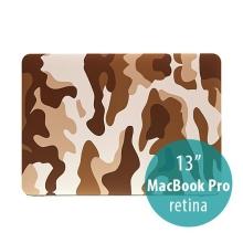 Plastový obal ENKAY pro Apple MacBook Pro 13 Retina - maskáč - hnědý