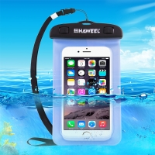 Pouzdro HAWEEL pro Apple iPhone - voděodolné - plast / guma - černé / modré