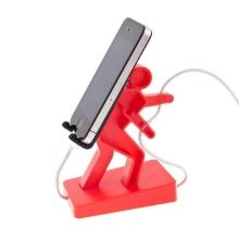 Plastový stojánek horolezec Boris pro Apple iPhone a iPod a podobná zařízení - červený