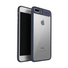 Kryt IPAKY pro Apple iPhone 7 Plus / 8 Plus - plastový / gumový - průhledný / tmavě modrý