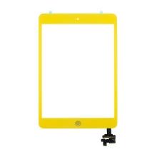 Dotykové sklo (touch screen digi) + IC konektor a flex s Home Buttonem pro Apple iPad mini / mini 2 (Retina) - žluté