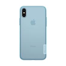 Kryt NILLKIN Nature pro Apple iPhone X - gumový - průsvitný / modrý