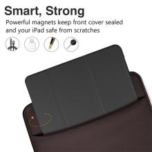 Pouzdro / kryt pro Apple iPad Pro 10,5 - funkce chytrého uspání + stojánek - silikon / umělá kůže - černé