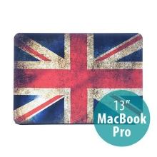 Ochranný plastový obal pro Apple MacBook Pro 13 (model A1278) - retro vlajka GB