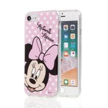 Kryt pro Apple iPhone 6 / 6S / 7 / 8 - Minnie - růžový - gumový
