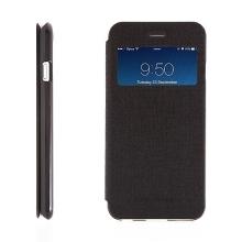 Vyklápěcí pouzdro Mercury s výřezem na displej pro Apple iPhone 6 / 6S - prostor pro umístění platební karty / dokladů - černé