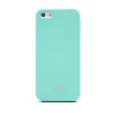 Gumový kryt Mercury pro Apple iPhone 5 / 5S / SE - jemně třpytivý - světle zelený
