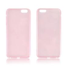 Ultra tenký gumový kryt pro Apple iPhone 6 Plus / 6S Plus (tl. 0,45mm) - hladký - růžový