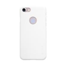 Kryt Nillkin pro Apple iPhone 7 / 8 plastový / jemná povrchová struktura, výřez pro logo - bílý + ochranná fólie