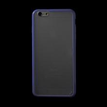 Kryt pro Apple iPhone 6 Plus / 6S Plus plasto-gumový - matný průhledný s fialovým rámečkem
