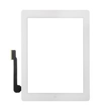 Přední dotykové sklo (touch screen) pro Apple iPad 4.gen. - osazený - bílý rámeček - kvalita A+