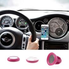 Univerzální magnetický držák do automobilu s přichycením na ventilační mřížku pro Apple iPhone a další zařízení - růžový