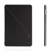 Elegantní pouzdro / kryt REMAX pro Apple iPad mini 4 - variabilní stojánek + funkce chytrého uspání - černé