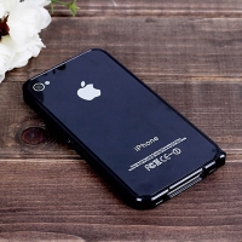 Ochranný ultra tenký hliníkový rámeček / bumper LOVE MEI (tl. 0,7 mm) pro Apple iPhone 4 / 4S - černý