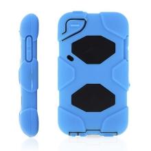 Ochranné plasto-silikonové pouzdro pro Apple iPod touch 4.gen. - modro-černé