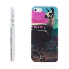Kryt pro Apple iPhone 5 / 5S / SE - gumový - lama