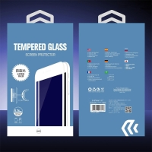 Tvrzené sklo (Tempered Glass) DEVIA pro Apple iPhone 7 Plus - 2,5D okraj - Anti-blue-ray - bílé - 0,26mm