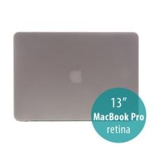Obal / kryt pro Apple MacBook Pro 13 Retina (model A1425, A1502) - tenký - plastový - matný - šedý