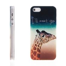 Kryt pro Apple iPhone 5 / 5S / SE - gumový - žirafa