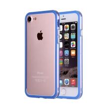 Rámeček / bumper pro Apple iPhone 7 / 8 - guma / plast - průhledný / modrý