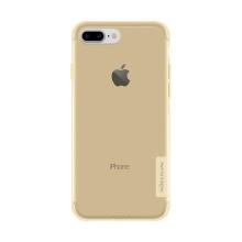 Kryt Nillkin pro Apple iPhone 7 Plus / 8 Plus gumový protiskluzový / antiprachová záslepka - zlatý
