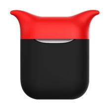 Pouzdro / obal pro Apple AirPods - silikonové - černé / červené - čert