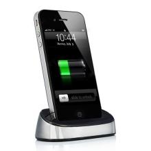 Přenosná dokovací stanice (Dock Station) pro Apple iPhone / iPod - stříbrná
