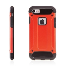 Kryt pro Apple iPhone 7 / 8 plasto-gumový / antiprachová záslepka - červený