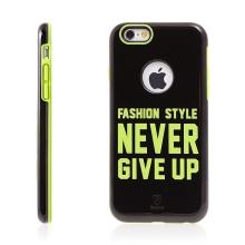 Kryt BASEUS pro Apple iPhone 6 / 6S plasto-gumový - NEVER GIVE UP - černý