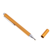 Dotykové pero / stylus - s diskem pro přesnost / přesné - kovové - zlaté