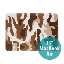 Plastový obal ENKAY pro Apple MacBook Air 13.3 - maskáč - hnědý