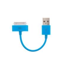 Mini synchronizační a nabíjecí datový kabel pro iPhone / iPod / iPad - modrý