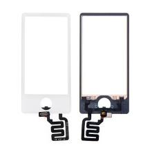 Náhradní sklo s dotykovou vrstvou pro Apple iPod nano 7.gen. (touch screen digitizér) - bílé - kvalita A+