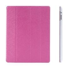 Pouzdro + Smart Cover pro Apple iPad 2. / 3. / 4.gen. - růžové průhledné - elegantní textura