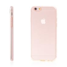 Kryt HOCO pro Apple iPhone 6 / 6S - antiprachová záslepka - tenký gumový průhledný - růžově probarvený