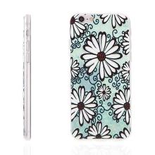 Tenký gumový kryt pro Apple iPhone 6 / 6S - bílé květy