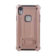 Kryt pro Apple iPhone Xr - odolný - plastový / gumový - se stojánkem - růžový