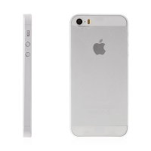 Kryt pro Apple iPhone 5 / 5S / SE - matný plastový tenký 0,5 mm - průhledný