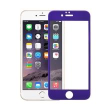 Odolné tvrzené sklo (Tempered Glass) na přední část Apple iPhone 6 / 6S (tl. 0.3mm) - fialový rámeček