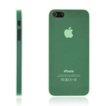 Ultra tenký ochranný kryt pro Apple iPhone 5 / 5S / SE (tl. 0,3 mm) - matný - zelený
