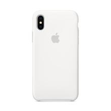 Originální kryt pro Apple iPhone X - silikonový - bílý