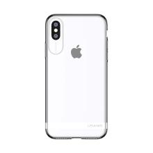 Kryt USAMS pro Apple iPhone X - gumový - průhledný s matným pruhem