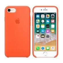 Originální kryt pro Apple iPhone 7 / 8 - silikonový - paprikově oranžový
