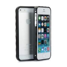 Rámeček / bumper pro Apple iPhone 5 / 5S / SE hliníkový - černý