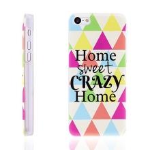 Plastový kryt pro Apple iPhone 5C - Home Sweet Crazy Home